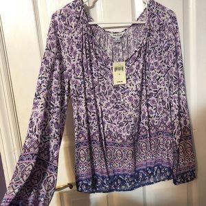 NWT Lucky Brand paisley print blouse